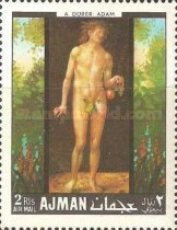 [Airmail - European Paintings - Adam and Eve, Typ JF]