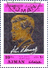 [Airmail - The 5th Anniversary of the Death of John F. Kennedy, 1917-1963, Typ KZ]