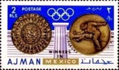 [Olympic Games - Mexico City, Mexico - Gold Medal Winners, Typ LT]