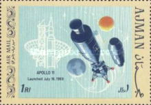 [Airmail - First Manned Moon Landing, type QR]
