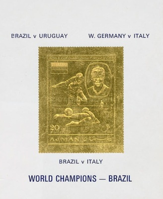 [Airmail - Football World Cup - Mexico - Gold Foil, Typ XUT3]