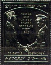 [Airmail - Historic First Encounter Between Eisenhower and de Gaulle, Typ XYF]