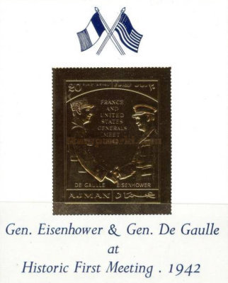 [Airmail - Historic First Encounter Between Eisenhower and de Gaulle, Typ XYF2]