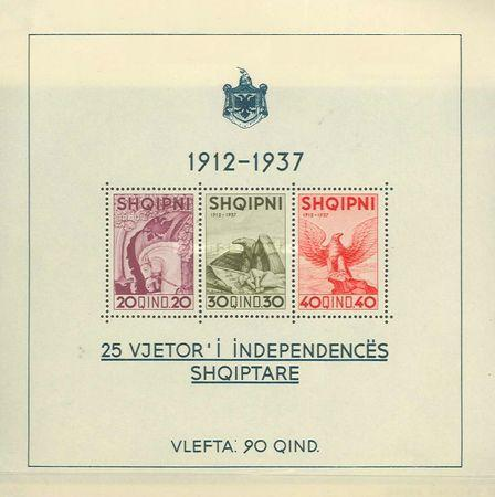 [The 25th Anniversary of Albanian Independence, Typ ]