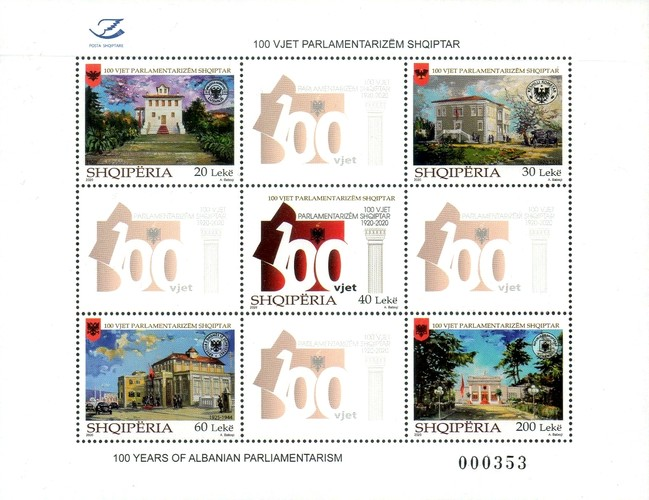 [The 100th Anniversary of the Albanian Parliament, type ]