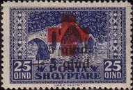 [No. 119-122 With Additional Overprint in Red and Black, Typ AG2]