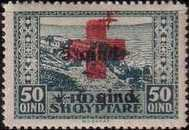 [No. 119-122 With Additional Overprint in Red and Black, type AG3]