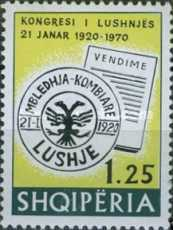 [The 50th Anniversary of the Congress in Lushnja, type AIF]