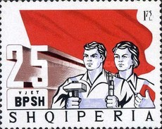 [The 25th Anniversary of Albanian Labour Unions, type AIG1]