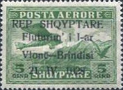 [Opening of Air Route Vlonë-Brindisi - Airmail Stamps of 1925 Overprinted, Typ AS]