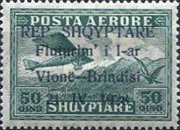 [Opening of Air Route Vlonë-Brindisi - Airmail Stamps of 1925 Overprinted, type AS3]
