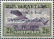 [Opening of Air Route Vlonë-Brindisi - Airmail Stamps of 1925 Overprinted, Typ AS5]
