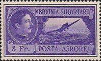 [Airmail - King Zog I & Airplane, Typ BI6]