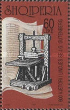 [The 600th Anniversary of the Birth of Johannes Gutenberg, Typ BUR]
