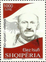 [The 90th Anniversary of the Death of Elez Isufi, 1861-1924, Typ DED]
