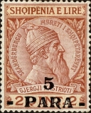 [Skanderbeg Issue of 1913 Surcharged, Typ I]
