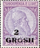[Skanderbeg Issue of 1913 Surcharged, Typ I4]