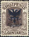[Prince William of Wied Issue Overprinted Coat of Arms, type Q2]