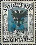 [Prince William of Wied Issue Overprinted Coat of Arms, type Q3]