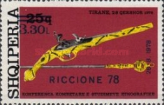 [International Fair in Riccione - Stamp of 1976 Surcharged, Typ XQB1]