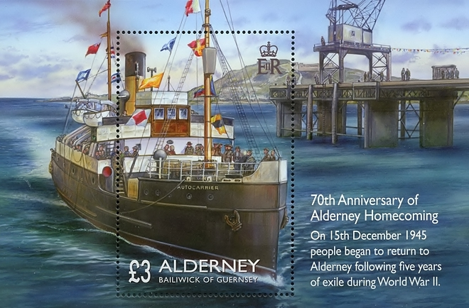 [The 70th Anniversary of Alderney Homecoming, type ]