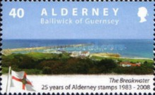 [The 25th Anniversary of the First Alderney Stamp, type LU]
