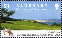 [The 25th Anniversary of the First Alderney Stamp, type LW]