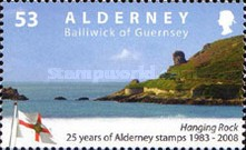 [The 25th Anniversary of the First Alderney Stamp, type LX]
