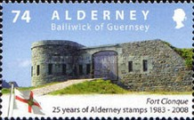 [The 25th Anniversary of the First Alderney Stamp, type LY]