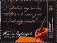 [The 100th Anniversary of the Death of Florence Nightingale, type NV]