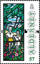 [Christmas - Anne French Stained Glass Windows, type TU]