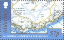 [Alderney and Burhou Map, type UZ]