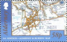 [Alderney and Burhou Map, type VA]