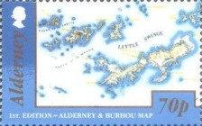 [Alderney and Burhou Map, type VC]