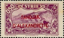 [Syrian Stamps Overprinted in Black or Red, Typ B]