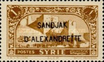 [Syrian Stamps Overprinted in Black or Red, Typ B1]