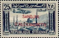 [Syrian Airmail Stamps Overprinted, Typ B14]
