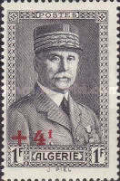 [Marshal Petain - Unissued Stamp Surcharged, type AR1]