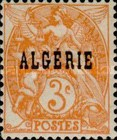 [French Postage Stamps Overprinted in Black, type B1]