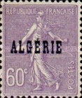[French Postage Stamps Overprinted in Black, type B11]