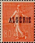 [French Postage Stamps Overprinted in Black, type B12]