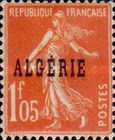 [French Postage Stamps Overprinted in Black, type B14]