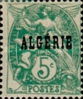 [French Postage Stamps Overprinted in Black, type B2]