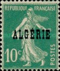 [French Postage Stamps Overprinted in Black, type B3]