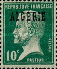 [French Postage Stamps Overprinted in Black, type B4]