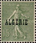 [French Postage Stamps Overprinted in Black, type B5]