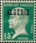 [French Postage Stamps Overprinted in Black, type B6]