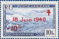 [Airmail - Number 246 Overprinted