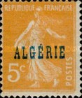 [French Postage Stamps Overprinted in Blue, type C1]