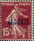 [French Postage Stamps Overprinted in Blue, type C2]